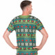Belly V-Neck Ugly Christmas Sweater Faux Real - Back