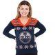 NHL Edmonton Oilers Womens Light Up Sweater Front