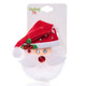 Christmas Felt Flashing Brooches  Santa