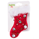 Christmas Felt Flashing Brooches Stocking