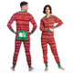 Holiday Stripes Adult Christmas Onesie Union Suit by Hatley