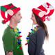 Felt Christmas Elf Hats on Model