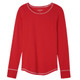 Women's Red Stretch Jersey Pajama Top