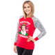Sequin Sleeve Raglan Shirt Elf Smiling Favorite