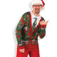 Men's Ugly Christmas Cardigan Long-Sleeve Christmas Tee - Thumbs Up