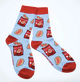 Canadian Ketchup Chips Socks Pair