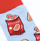 Canadian Ketchup Chips Socks Close Up
