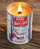Quebec Maple Syrup Candle with Wooden Wick burning