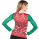 Women's Ugly Christmas Sweater Vest with Bling Faux Real - Back