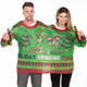 "Holiday Drink Team 2-Person Ugly Christmas ""Sweater"", front"