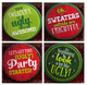 Ugly Christmas Sweater Buttons
