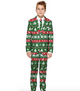 Boys Green Nordic Christmas Suit