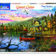 Sunset Cabin 550 Piece Puzzle by White Mountain