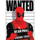 Marvel Comics Deadpool Wanted Flat Magnet