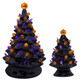 Large and Small Retro Ceramic Halloween Tree
