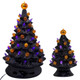 "7.25"" Black Ceramic Halloween Tree with Pumpkin Pegs"