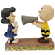 Peanuts Pageant: Lucy with Charlie Brown the Director by Jim Shore Places Everyone