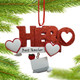 Hero Teacher Pandemic Personalized Ornament