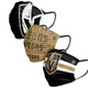 Las Vegas Golden Knights Pleated Face Masks 3-PackSet of