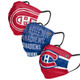 Montreal Canadiens Pleated Face Masks 3-Pack