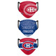 Set of 3 Montreal Canadiens  Matchday Face Masks