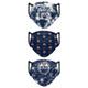 Set of 3 Womens Edmonton Oilers Matchday Face Masks