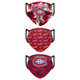 Set of 3 Montreal CanadiensMatchday Face Masks