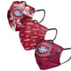 Womens Montreal Canadiens Pleated Face Masks 3-Pack