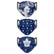 Set of 3 Womens Toronto Maple Leafs Matchday Face Masks