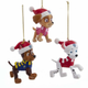 Paw Patrol with Santa Hats Ornaments