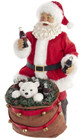 Coca-Cola® Santa With Bear In Bag Table Piece