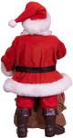 Coca-Cola® Santa With Bear In Bag Table Piece back