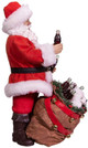 Coca-Cola® Santa With Bear In Bag Table Piece side