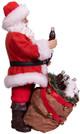 Coca-Cola® Santa With Bear In Bag Table Piece side