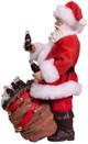 Coca-Cola Santa With Bear In Bag Table Piece side