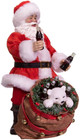 Coca-Cola® Santa With Bear In Bag Table Piece angle