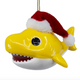 Yellow - Baby Shark Santa Hat