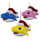 Baby Shark Santa Hat Ornaments