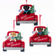 Lab Retriever in Red Truck Personalized Ornaments