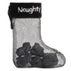 "Coal in Naughty Stocking 4.5"" Ornament"