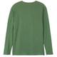 Men's Winter Green Waffle Henley Pajama Shirt Back