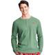 Men's Winter Green Waffle Henley Pajama Shirt