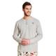 Men's Winter Grey Waffle Henley Pajama Shirt