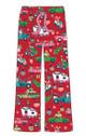 Retro Christmas Womens Pajama Pants Art