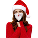 Wearing Santa Face Mask