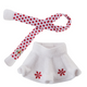Elf on the Shelf: Snowflake Skirt & Scarf by Claus Couture
