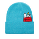 Snoopy Peekaboo Blue Marled Knit Toque