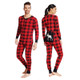Moose on Buffalo Plaid His and Hers Union Suits