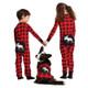 Moose on Buffalo Plaid - Kids Union Suits