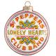 Sgt Pepper Drum Cover Glass Ornament